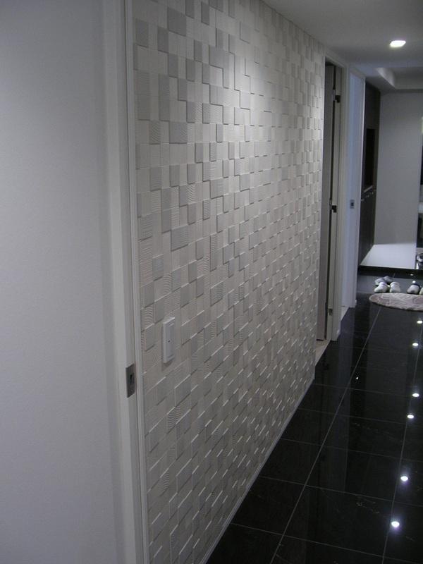 玄関 廊下 モザイクパールマスクの施工