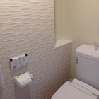 手摺り・リモコン・紙巻器・ニッチ有りのトイレ