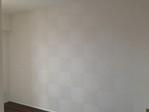 洋室にたけひごのホワイトを市松貼