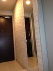 玄関にルドラ(ベージュ)とミラーのコラボ施工