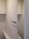 トイレ カウンター上にシルクリーネ(ホワイト)を施工