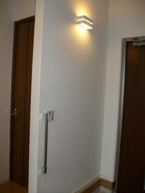 カッセ×ミラー(玄関照明下までの部分貼り)