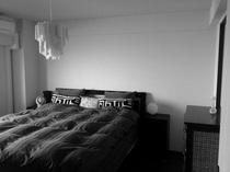寝室にデザイン張り