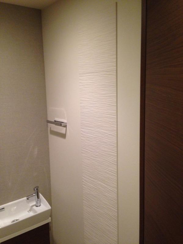 トイレに人気のたけひごを部分貼りで