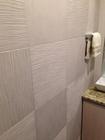 トイレにたけひごを市松貼で