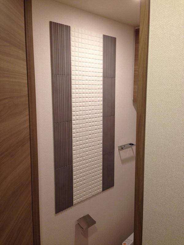 お洒落なデザイン貼りをトイレに☆
