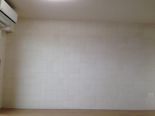 壁1面に石積み意匠のストーンⅡ(ベージュ)