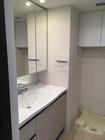 洗面室にシルクリーネのホワイト、神奈川県川崎市