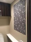 トイレにブルーグレーのラグジュアリーモザイクⅡ