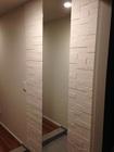 玄関にグラナスハルトとオーダーミラー上り框合わせ