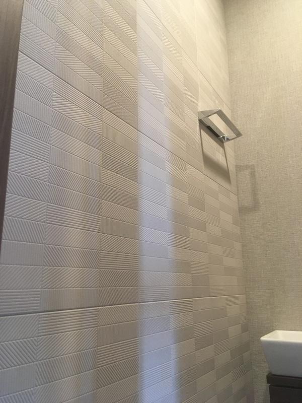 トイレにリブミックスのグレー