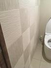 トイレにたけひごのホワイトを市松貼りで