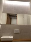 トイレにオーダーミラーとたけひごのグレー