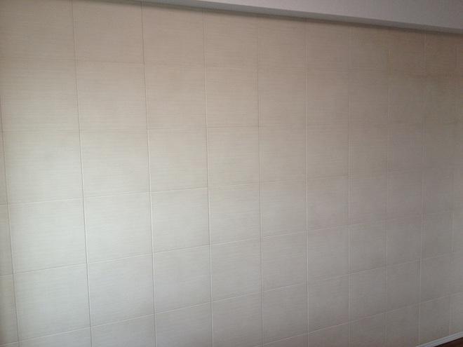 シルクリーネを寝室の壁一面に